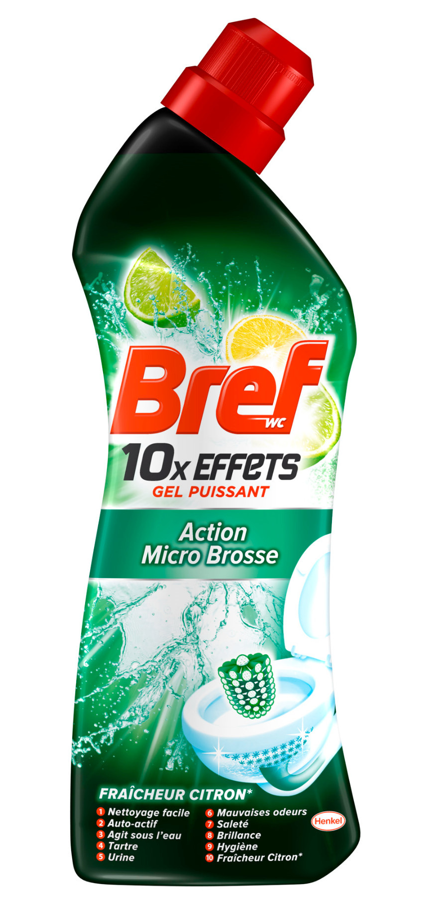 bref wc gel nettoyant wc 10x effets micro brosse flacon 735ml bref shoptimise. Black Bedroom Furniture Sets. Home Design Ideas